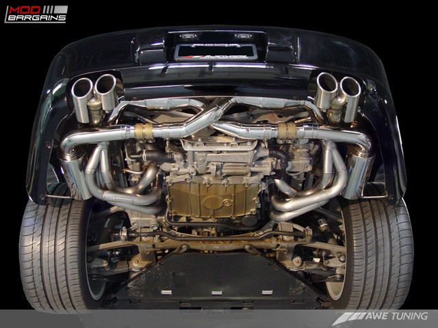 AWE Tuning Performance Exhaust Installed on Porsche 997