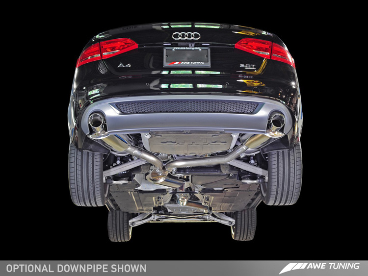 AWE Tuning Cat-Back Exhaust System B8 A4 @ ModBargains.com
