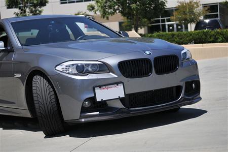 BMW F10 5 Series M Sport Carbon Fiber Front Spoiler Front View