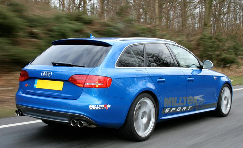 Milltek Polished Quad Tips Audi B8 S4 Installed