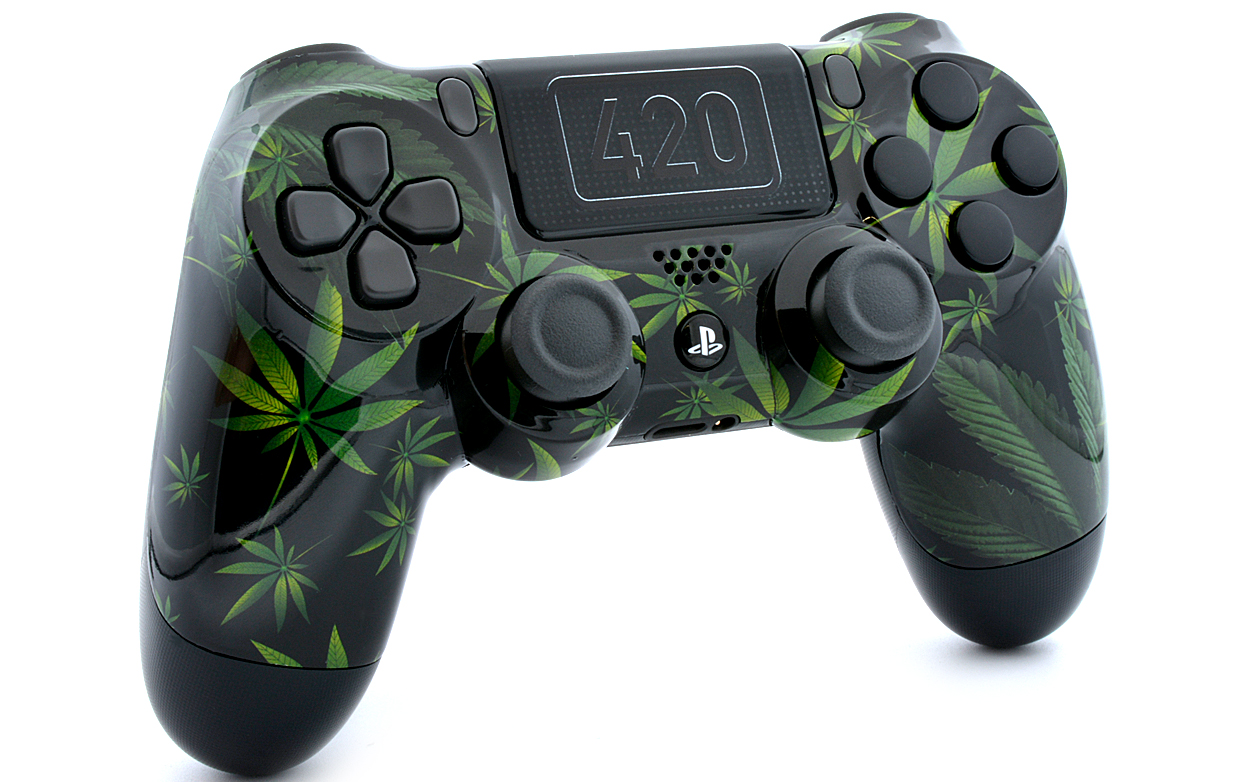 420 BLACK PS4 MODDED CONTROLLER ModdedZone