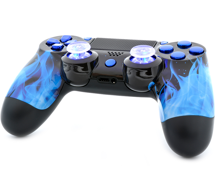 BLUE FIRE PS4 MODDED CONTROLLER ModdedZone