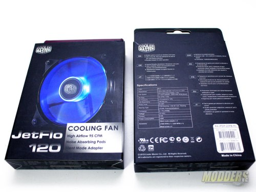 Cooler Master JetFlo 120mm LED Fan box
