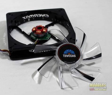 Enermax T.B.VEGAS SINGLE 120 mm Fan apart