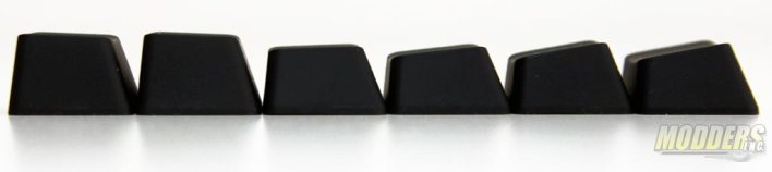 Keycap side profile by row