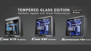 Thermaltake Updates Core V71, V51 and Suppressor F51 with Tempered Glass