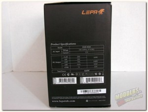 Lepa box specification side
