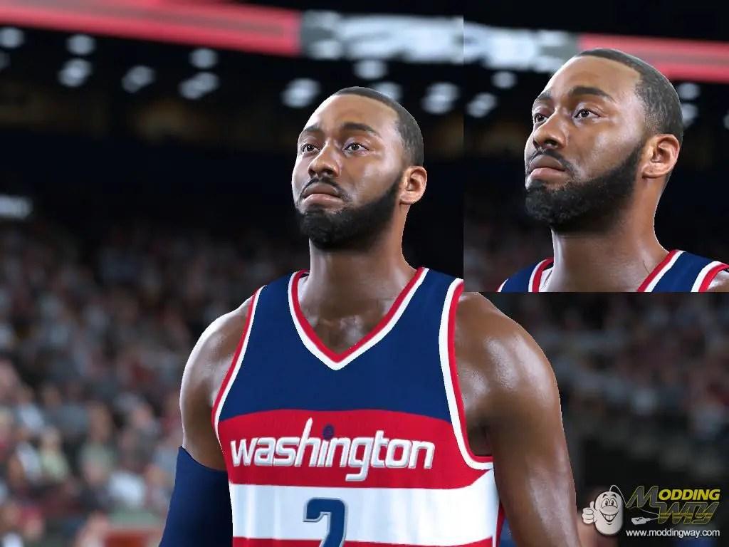John Wall Thicker Beard Smaller Head Playoff Edition NBA