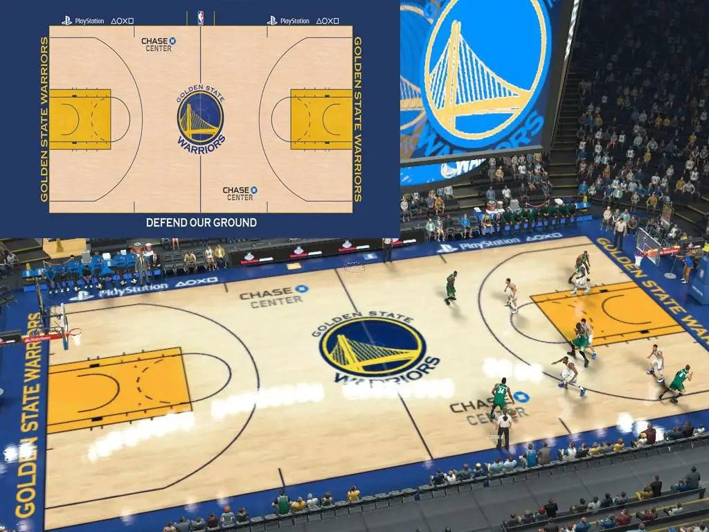 Warriors Latest Court Update CHASE CENTER NBA 2K17