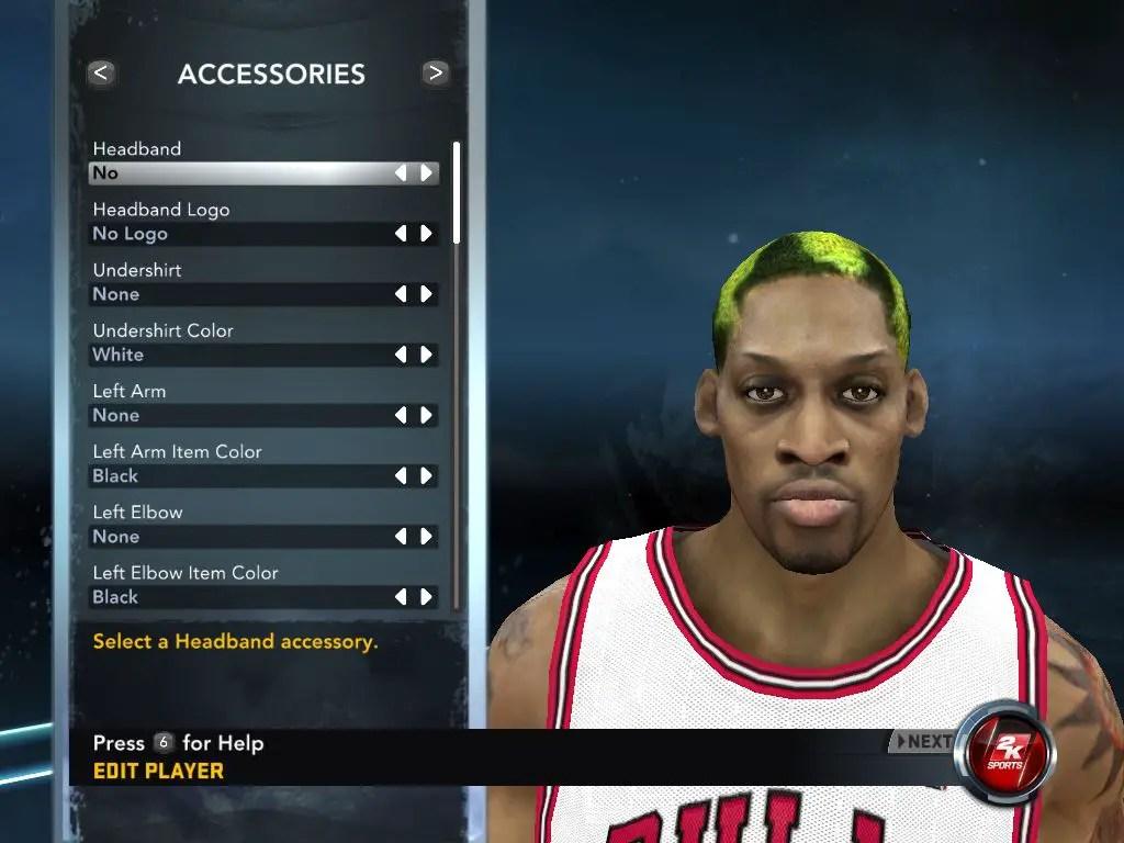 Dennis Rodman Cyber Face NBA 2K12