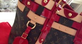 My look: red dress & Louis Vuitton Salina…