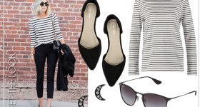 GET THE LOOK: STRIPES & POINTED FLATES