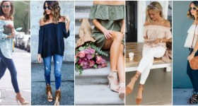 One off-shoulder item / three looks