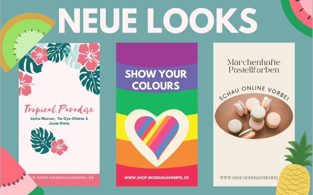 Neue sommerliche Looks im Onlineshop erhältlich! 🌞