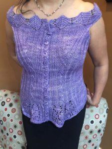Silk corset in ModeLuxe DK, color Lavender