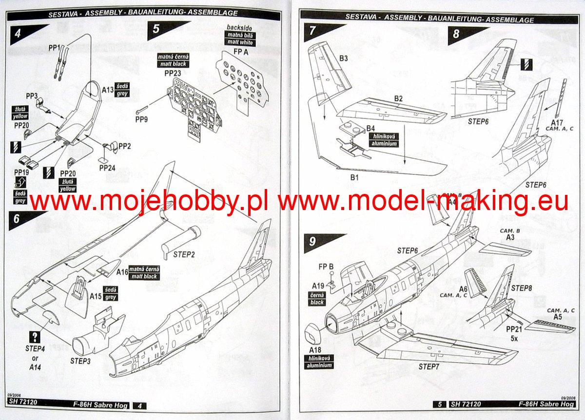 F 86h Sabre Hog In Usaf Service Special Hobby