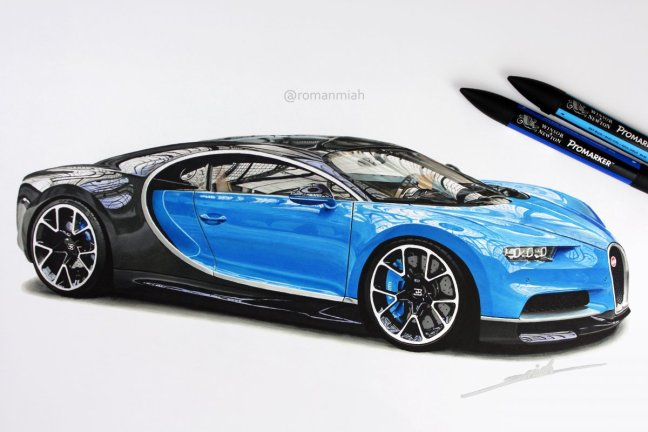 Bugatti Automotive Art