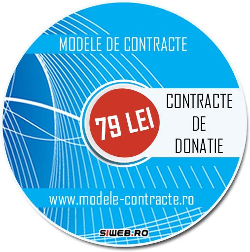 model contract donatie
