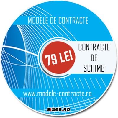 model contract schimb
