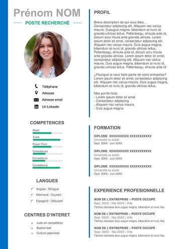 Exemple De Cv Pour Apprentissage Gratuit Modeles Cv Word
