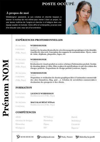Modele De Cv Graphique A Telecharger Exemple Cv Gratuit