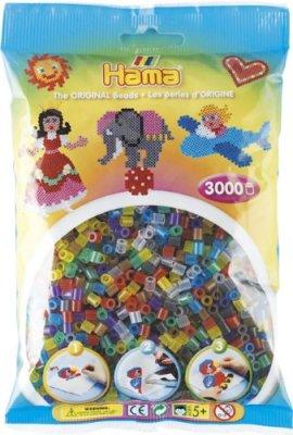 Hama-201-53-Loisirs-Cratifs-Perles-et-Bijoux-Sachet-3000-Perles-Transparent-Mixte-0