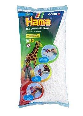 Hama-205-01-Loisir-Cratif-Midi-Sachet-6000-Perles-Blanc-0
