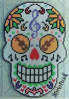 mexican-skull-perler-beads-hama-music