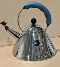 **ITEM NOW SOLD** Alessi: Michael Graves-designed kettle. 20 years old, very light use. Current List: $190.- Modele's Price: 75.-