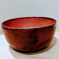 "**ITEM NOW SOLD** Lacquered bowl from northern Thailand. Late 19th c. or early 20th c. Purchased from an antiques dealer in Chiang Mai in late 1960's. 9.5""d. 65.-"