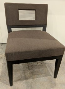 """**ITEM NOW SOLD** Pair Christian Liaigre 'Chamane' chairs. 3-4 years old, very lightly used. 23.25""""w x 27.5""""d x 32.5""""h. Original List: $$7,598. per Pair. Modele's Price: 1975. per Pair. Two pairs available."""