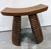 "**ITEM NOW SOLD** Contemporary African stool, purchased from Seattle Art Museum gift store approx. 10 yrs. ago. 18.75""w x 9.25""d x 19.25""h. 95.-"