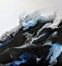"""Corrie LaVelle original encaustic. 'Narrative': A spoken or written account of connected events; a story. 36"""" sq. 2100.-"""