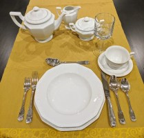 **ITEM NOW SOLD** Rosenthal 'Maria White'/'Classic Rose' dishes. See large inventory list in separate photo.