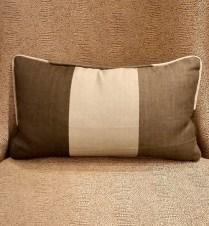 **ITEM NOW SOLD**Custom Pillow. Linen and Cashmere Cover. Down Insert. 75.-