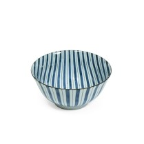 "Tokusa Stripe donburi bowl. 6"" dia. 9.25 each"