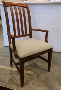 "Ethan Allen ""American Impressions' Prairie armchair. Cherry finish with upholstered seat. 140.-"