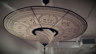 A first for modeles a silk fortuny chandelier modeles home fortuny grey aloadofball Choice Image