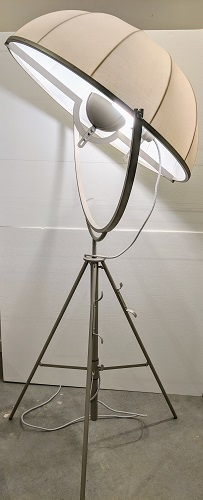"**ITEM NOW SOLD** Fortuny floor lamp, 11 years old, stored for several years. 75""-94.5""h. Current List: $5,000. plus 279. shipping Modele's Price: 2650.-"