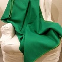 Block Color Green Fuzzy Fussenegger Throw. 152.-