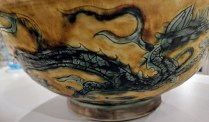 "**ITEM NOW SOLD** Hand-painted Chinese bowl. 12"" dia. x 5""h. Two available. 125.- each"