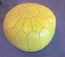 Jonathan Adler Moroccan pouf in leather. Current List: $375.- Modele's Price: 195.-