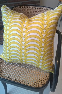 "**ITEM NOW SOLD** Jonathan Adler pillow. Approx. 2 years old. 20.5"" sq. Orig. List: $125. Modele's Price: 65.-"