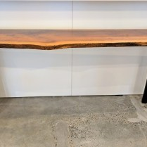 **ITEM NOW SOLD**Urban Hardwoods live edge walnut console table. Custom made. 2 available.Original Price: $2850.-Modele's Price: 1850.-