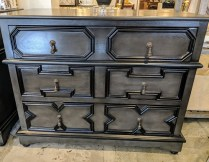 "**ITEM NOW SOLD** Noir Co. 'Watson Dresser' 3-drawer chest. Purchased from GR Home 2 years ago. 40.5""w x 22""d x 32.25""h. Orig. List: $1,600. Modele's Price: 495.-"