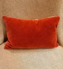 **ITEM NOW SOLD** Room and Board Mohair/Linen Pillow. Feather Insert. Color 'Curry'. Original List: $129.- Modele's Price: 65.-