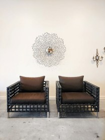 **ITEM NOW SOLD** Pair Cane-Line 'Matrix' chairs.Current List: $1292.- each.Modele's Price:1250.-/ pair