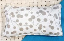 """**ITEM NOW SOLD*Pair Custom Rectangular PillowsThom Filicia Burnet Taupe' Fabric. Feather down insert. 12"""" x 20"""" long.75.- pair"""