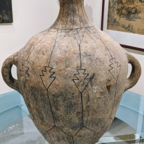 """**ITEM NOW SOLD** Pre-Columbian pottery jar, from the Jane Piper Reid Collection. 22.5""""h Orig. list: $2,800. Modele's Price: 450.-"""