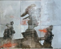 . 'Salute Church Venice'. Alessandra D'Agnolo. Painting on aluminum lithography plates. 2500.-